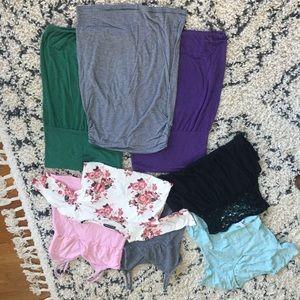Maternity top bundle (8 total)